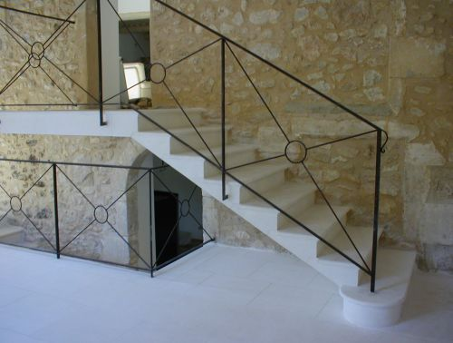 Staircase in siz stone craft made at the Isle of Sorgue